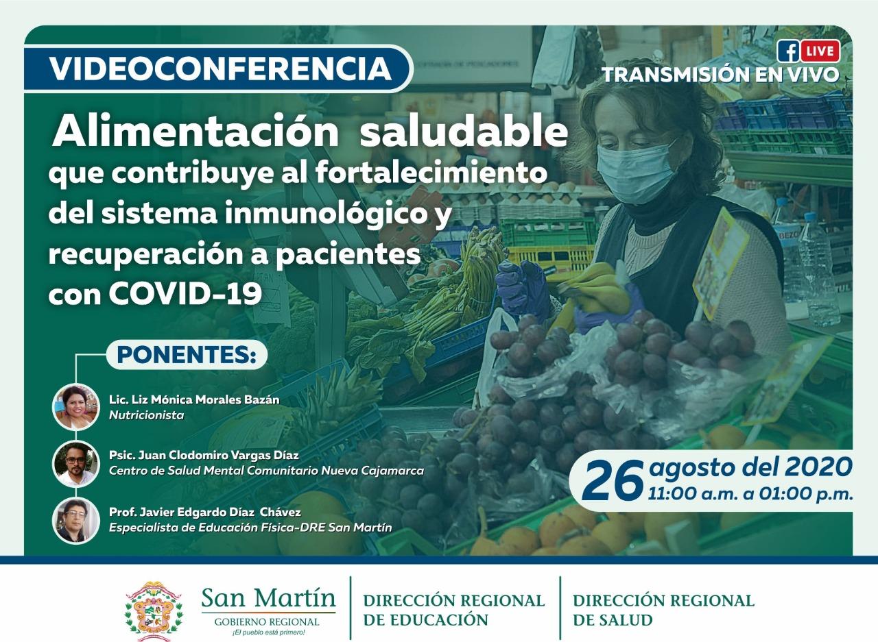 Alimentación saludable que contribuye al fortalecimiento del sistema inmunológico y recuperación a pacientes con COVID -19