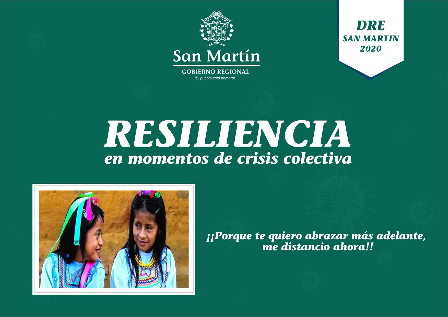 RESILIENCIA EN MOMENTOS DE CRISIS COLECTIVA                                ¡¡PORQUE TE QUIERO ABRAZAR MÁS ADELANTE, ME DISTANCIO AHORA!!