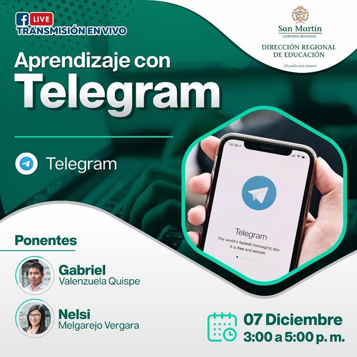 Seminario Web: Uso de la aplicación del Telegram en la educación a distancia
